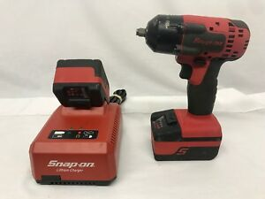 Snap On 18v 3 8 Cordless Impact Wrench W 2 Batteries Charger Ct8810a