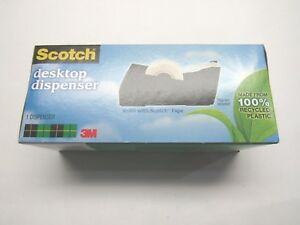 Scotch Desktop Dispenser 100 Recycled Plastic Tape Not Included Lot Of 7 Each