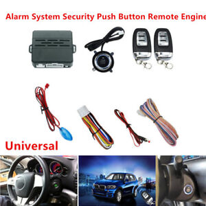 Car Alarm System Security Ignition Push Button Remote Engine Start sensor Light