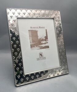Del Conte Sterling Silver Picture Frame 9x7 With Easel