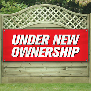 Under New Ownership Vinyl Banner many Sizes Business Flags Signs Advertising