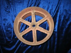 Rare Tractor Belt Pulley Hit Miss Gas Engine 8 7 8x4 1 2 Inches