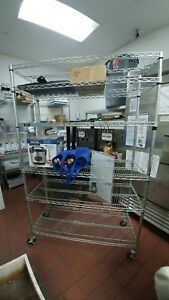 Seville Commercial Restaurant Storage Rack Wire Shelving 6ct Shelves 48x18x76