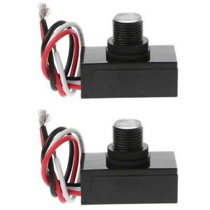 2x Outdoor Electric Resistor Photocell Light Control Sensor Button Switch Jl103a