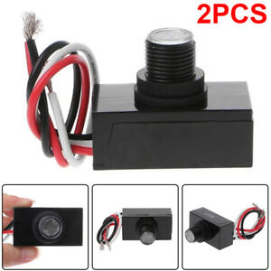 2x Outdoor Hard wired Post Eye Light Control With Photocell Light Sensor Jl 103a