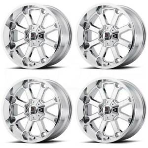4 new 20 Xd Xd825 Buck 25 Wheels 20x9 6x135 6x5 5 18 Chrome Rims