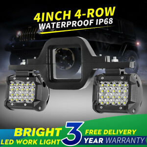 Tow Hitch Mounting Bracket 4 row Led Work Light Pods Backup Reverse 4 for Truck