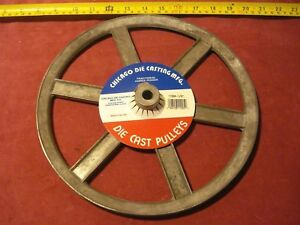 0465 Die Cast Pulley 11 Dia 1 2 Bore V belt A 6 spokes