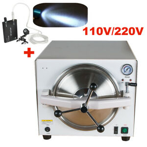 Dental Medical Autoclave Steam Sterilizer Equipment 121 0 12mpa Head Light