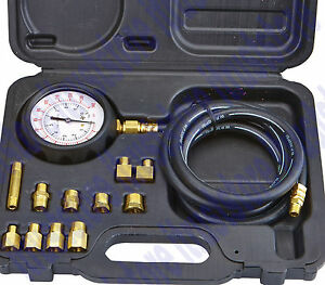 Diesel Gas Engine Oil Pressure Diagnose Test Tester Gauge Adaptor Check Tool