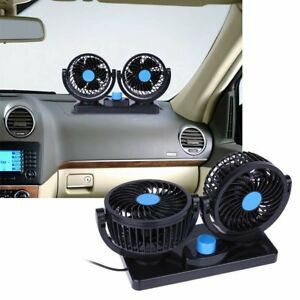 Twin Fan With Dc12v 2 Speed Dual Car Lorry Truck Caravan Boat 360 Rotation