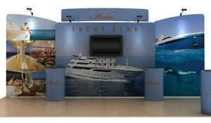 Waveline 20ft Straight Marlin Kit C Trade Show Exhibit Display Booth Kit 8