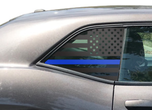 Thin Blue Line Usa Flag Decal For Dodge Challenger Side Windows 2008 Dx1 b