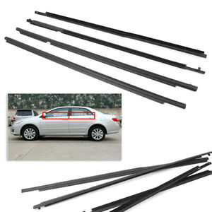 Car Outer Window Molding Trim Weatherstrip Seal For 2009 2012 Toyota Corolla