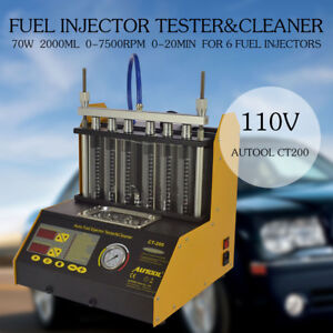 Autool Ct200 110v Ultrasonic Fuel Injector Cleaner Tester For Car motorcycle