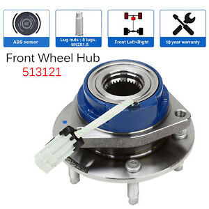 Steel Front Wheel Hub Bearing Assembly For Chevy Buick Cadillac 5 Lug W Abs