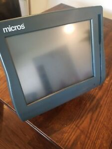 Micros Workstation Ws4 Touchscreen System Used