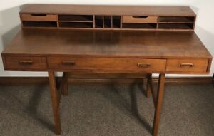 Mid Century Modern Dixie Scova Convertible Secretary Desk Vintage Unique