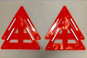 Safety Triangle Kit 3m Reflective Strips Includes 2 Emergency Signals