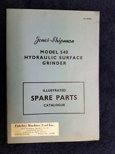 Orgnl Vtg Rare C 1950 s Jones shipman Grinder Instructions Catalogues qty 3