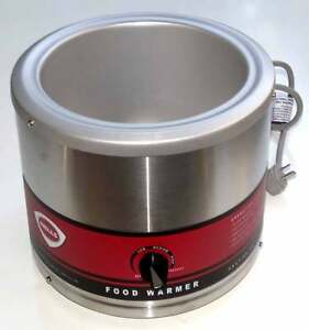 Wells Food Soup Warmer 7 Quart Round Commercial Container Llw 7 21614 Unused