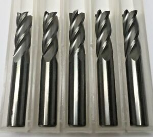 3 8 Dia X 1 Cut 4 Flute Square End Carbide End Mill Made In The Usa 5 pack