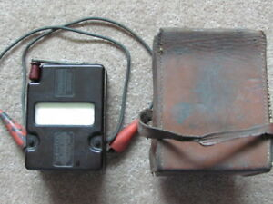 Variable Pressure Midget Megger James G Biddle Co Insulation Tester Megohmmeter