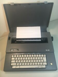 Vintage Smith Corona Sl80 Gray Portable Electric Typewriter W cover Works Great