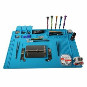 Soldering Station Repair Mat Magnetic Heat Insulation Silicone Pad Desk Platform