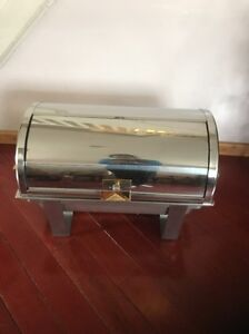 Roll Top Deluxe Full Size 8 Qt Stainless Steel Buffet Chafer Chafing Dish Set