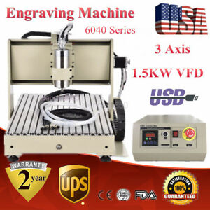 Usb Cnc6040z Router Engraver Engraving Drilling Milling Machine 1500w Software
