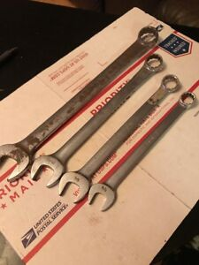 Snap on Tools Usa 4pc 12pt Sae Standard Combination Wrench Set 5 8 1in