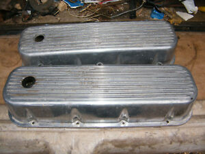 Nice Chevy Big Block 427 454 Vintage Finned Aluminum Valve Covers