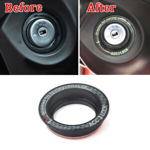 Ignition Key Hole Switch Engine Start Stop Ring Trim For Ford Focus Escape 05 17