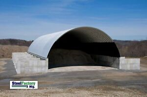 Steel Manufactured 40x40x15 Quonset Barn Farm Building Kit Factory Direct