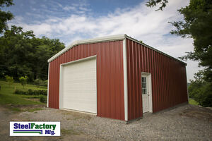 Steel Factory Mfg 16x20x9 Galvanized Metal Storage Steel Garage Building Kit