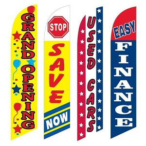 4 Swooper Flags Grand Opening Save Now Used Cars Easy Finance