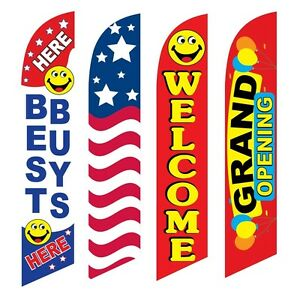 4 Swooper Flags Best Buys Usa Welcome Grand Opening