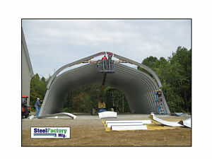 Steel Factory 25x40x12 Metal Gambrel Arch Style Building Kit Carport No Ends