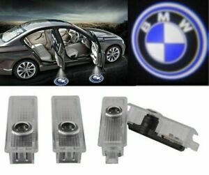 4x Bmw 3d Led Light Logo Projector Emblem Accessory Car Bright Light Door Series