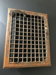 N 24 Antique Sheet Metal Floor Heating Grate With Fins