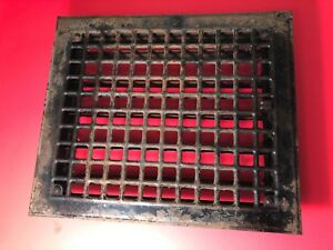 N 25 Antique Sheet Metal Floor Heating Grate With Fins
