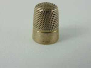 Sterling Silver Thimble Doskow Made In England Sterling Tailor Thimble 9 Tall