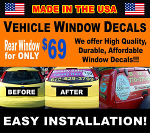 Custom Perforated Rear Window Ad Graphics Any Size Any Vehicle Easy Installation