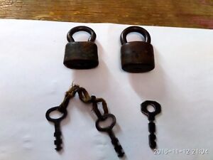 Lot Of Old Barn Locks With Keys Vintage Ussr 1940 50