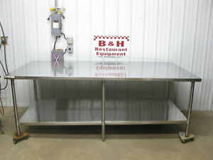Winholt 96 X 48 Stainless Steel Island Kitchen Bakery Work Prep Table 8 X 4