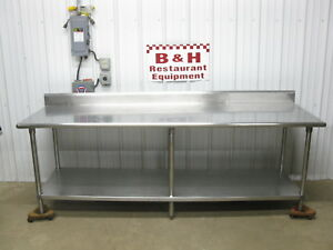 8 X 30 Heavy Duty Stainless Steel Kitchen Work Prep Table 96 X 2 6
