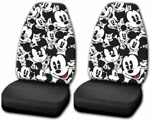 Disney Character Mickey Mouse Expressions High Back Seat Covers Universal Fit