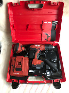 Hilti Hammer Drill Sfh 144 a C 4 36 Battery Charger 2x 14 4v Li ion Baterries