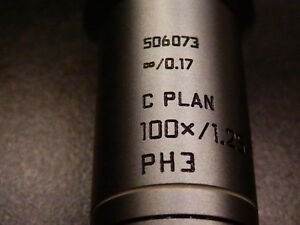 C Plan 100x 1 25 Oil Objective Lens 506073 Rare Leica Dm Laboratory Microscope